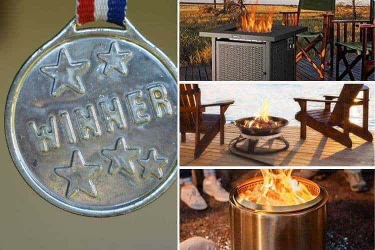 Image of three best deck fire pits