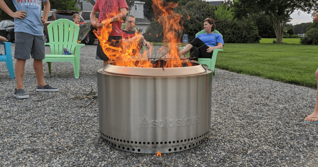 Image of a non-smoky fire pit