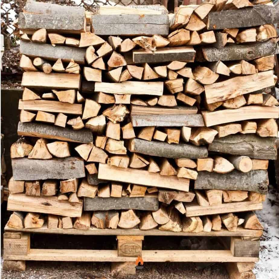 image of criss cross stacked firewood