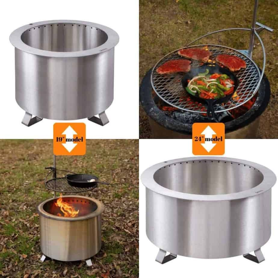 Image of Breeo Double Flame fire pit, our choice as the best portable smokeless fire pit