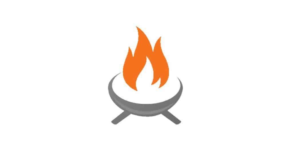 Image of a backyard fire pit
