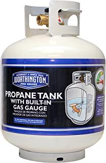 Image of a key fire pit accessory idea, a 20 lb propane tank