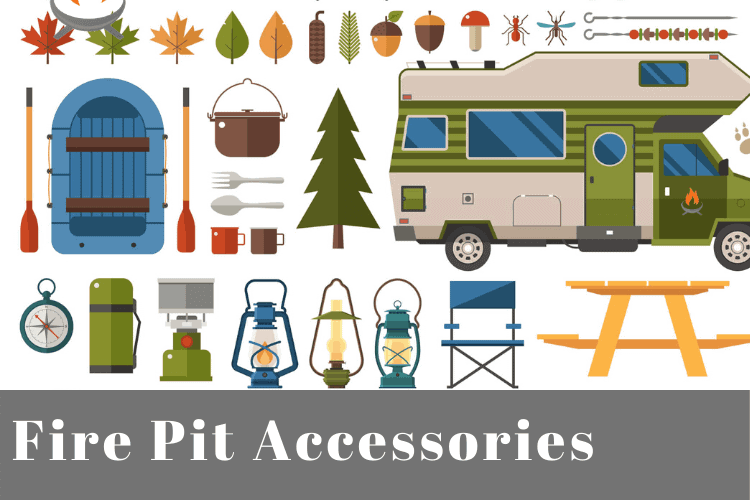 Image for a blog post about fire pit accessories