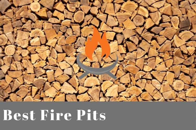 Image of a stack of firewood for a post about the best fire pits