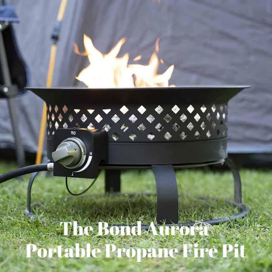 Image of the Bond Aurora portable propane fire pit